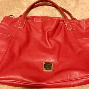 Dooney & Bourke Red Leather Tote